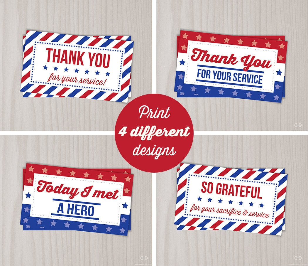 Instant download veterans day thank you cards military thank zoom aljukfo Gallery