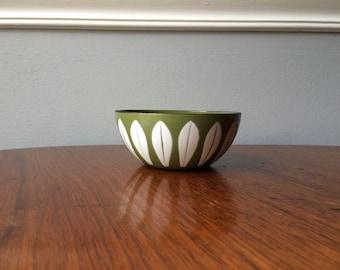 Great Looking Green/Avocado Cathrineholm Lotus Bowl
