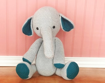 Elephant, amigurumi elephant, crochet elephant, ready to ship, safari elephant