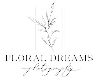 Premade Botanical Logo Minimal Floral Logo Design Boho Branch Logo Business Branding Logo Simple Minimalist Logo Custom Logo Photo Watermark