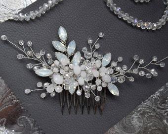 AQUA BLUE | Bridal hair comb, wedding headpiece, bridal hairpiece, wedding hair accessory, wedding accessory