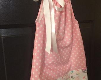 Pillow Case Dress Polka Dot