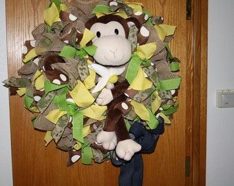 Monkey Business Wreath