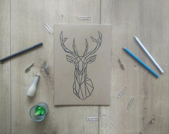 Printed notebook deer