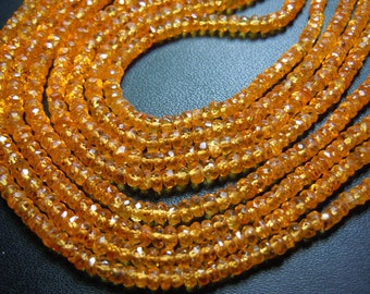 Mandarine Garnet Gemstone Faceted Rondel Beads AAA Quality 14 ''  Size 3 MM To 4 MM Approx wholesale price