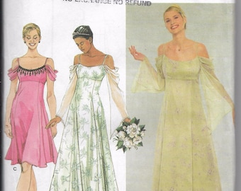 Simplicity 9125, Wedding Dress, Bridesmaids Dress, Special Occasions, Sizes 6 to 10, Spring Wedding, Easter Wedding, Factory Folded Unused