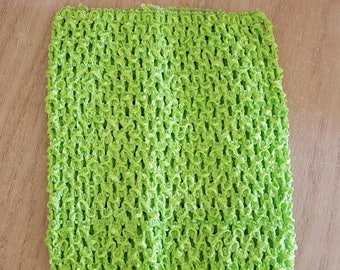 STRAPLESS stretch lime green crochet for creating dress 0-16 month TUTU