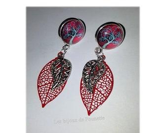 """Tree of life"" earrings Red"