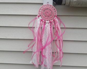 Glittery Pink Dreamcatcher