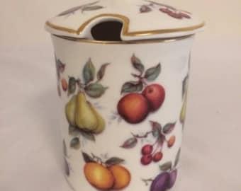 Vintage St George Fine Bone China Jam Pot / Jam Jar / Preserve Jar / Preserve Pot / Made in England / 1980's Jam Pot