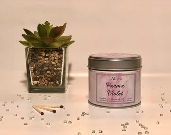 Parma Violet Scented Candle Tin