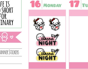 Munchkins - Takeout Night Food Planner Stickers (M251)