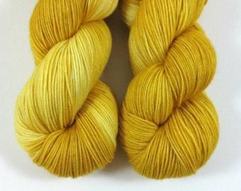 Love Me, QCC Yarn, Squooshy Cat Yarn, Fingering Weight Yarn, Merino Wool, Yellow