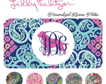 Labrador Monogrammed License Plate, Lilly Pulitzer, Car Accessory, Tag Plate, Dog