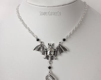 Gothic Vampire Bat Necklace