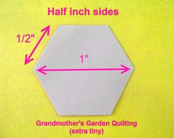 1000 Paper Hexagons English Paper Piecing Templates for Patchwork 1/2  inch Sides