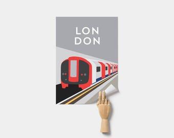 London Underground Train Poster Print. London Poster.