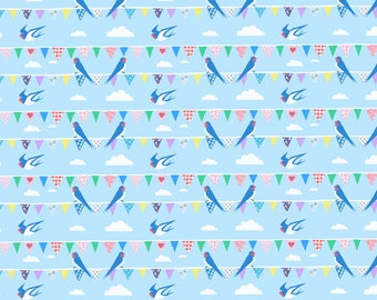 Swallows Wrapping Paper - Swallows Illustration- Recycled Wrapping Paper - Bird Wrapping Paper - Bird Gift Wrap - Recycled Gift Wrap