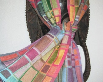 Handwoven Scarf, Silk Hand Dyed Doubleweave, Accessories Woven by Tisserande