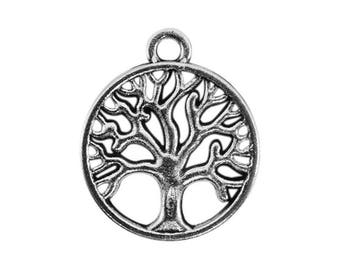6 charms trees of life silvered aged bc272