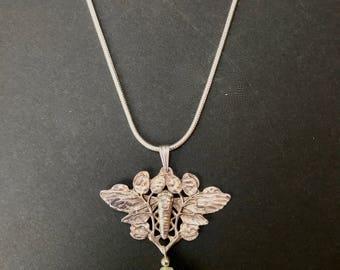 Art Nouveau Moth Pendant