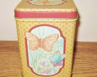 Vintage Tin, collectible Tin, Butterfly Advertising Tin, Princeton Industries Princeton Indiana, PIC Tin