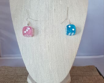 Colorful Dice Earrings - Opaque