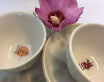 Spiritual Blessing Expresso Cup and Saucer
