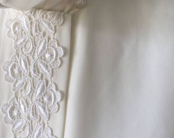 Cream Blouse with Lace