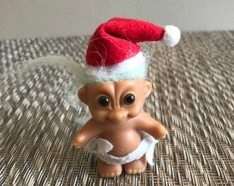 Vintage Christmas Santa Russ Baby Troll Doll