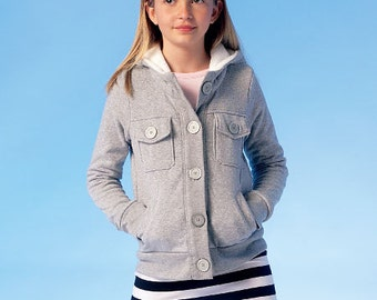 OUT of PRINT McCall's Pattern M7044 Girls' Jacket, Skirt and Leg Warmers