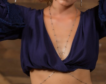 Sweet Escape Dainty Body Chain Necklace - Festival Jewelry