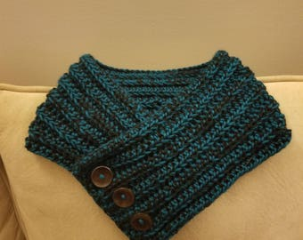 Handmade Crochet Cowl Scarf With Buttons