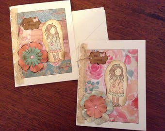 Sweet Set of Two Friendship All Occasion Vards