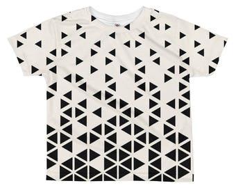 Geometric Kids Shirt, Black White Shirt, Kids T-shirt, Bohemian Kids Shirt, Unique Kids Gifts, Boys T-shirt, Modern Kids Clothing