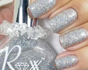 Danburite Polish - Be Enlightened - Unique Nail Polish - Crystal Infused Crystal Energy - Vegan - Glitter Polish - Non-Toxic