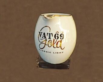 Vintage Vat 69 Gold Liquor Pither, Barware, Bar Decor, Water Pitcher, Liquor Pitcher, Serving Pitcher, Beverage Pitcher, Kitchen Decor