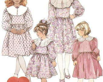 Girls Dress Sewing Pattern UNCUT McCall's 4614 Childrens Party Dress Size 4-6