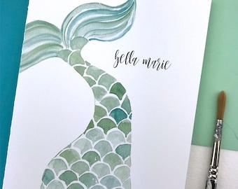 Mermaid Stationary Set, Mermaid Thank You Cards, Mermaid Thank You Notes, Mermaid Gifts for Women