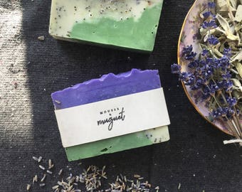 Exfoliating soap with Sage and lavender