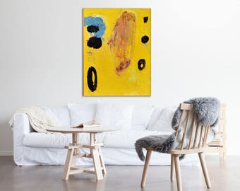 Original abstract painting Yellow painting abstract art original art original painting modern painting wall art abstract wall art modern art