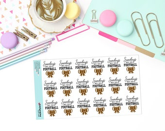 SUNDAYS are for FOOTBALL Paper Planner Stickers!
