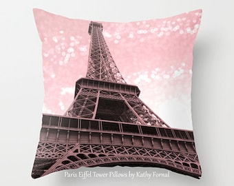 Paris Pillows, Eiffel Tower Pillow, Pink Eiffel Tower Pillow, Paris Baby Girl Nursery Pillow, Eiffel Tower Pink Pillow, Paris Throw Pillows