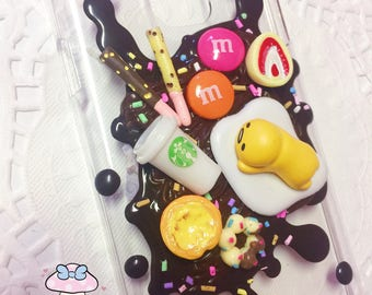 CLEARANCE SALE Samsung Galaxy S5 -Ready to Ship- kawaii cute Gudetama Lay Egg chocolat splatter style decoden phone case