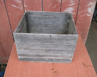 Primitive Large Rustic Wooden Farm Crate