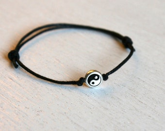 Yin Yang Bracelet, Yin Yang Anklet,  (many colors to choose)