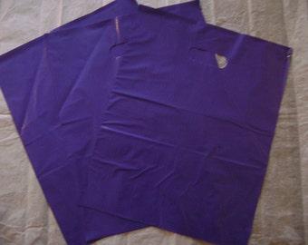50 pack 12X15 Purple Merchandise Bags Glossy Handles Low Density Handle Gift Bags