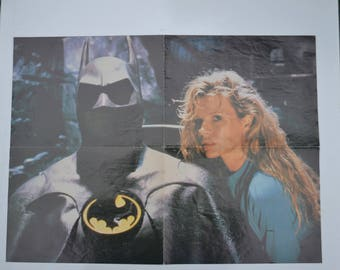 """Vintage 1989 Double-Sided Movie Poster, """"Batman"""" & """"Young Einstein"""""""