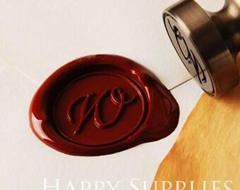1pcs 25mm Personalized Initial Alphabet Wax Seal Stamp (WS163) / Custom Monogram Calligraphy Wedding Invitation Sealing Wax Stamp