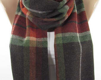 Wool Scarf Plaid Scarf Men Scarf Winter Scarf Clothing Gift  Mothers Day Gift For Him For Her For Men For Mom For Dad